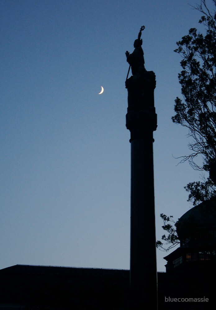 The saint and the moon by bluecoomassie