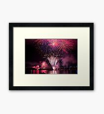 Fireworks on Sydney Harbour Framed Print