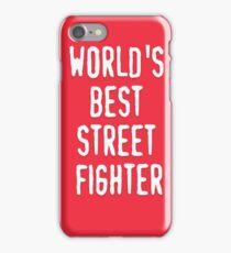 World's best street fighter iPhone Case/Skin
