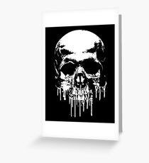 Dripping Skull Greeting Card