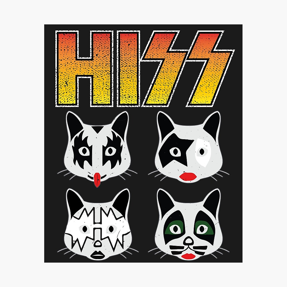Hiss Kiss - Cats Rock Band Photographic Print