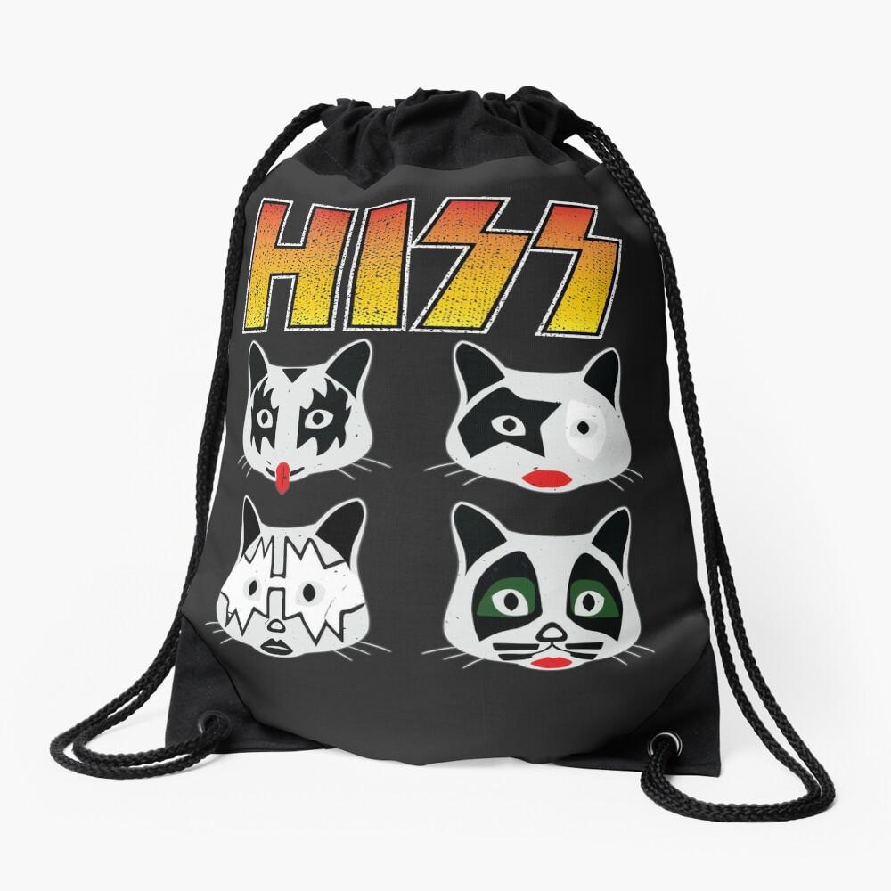 Hiss Kiss - Cats Rock Band Drawstring Bag