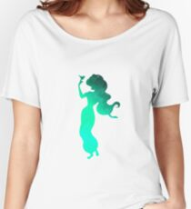 Princess with bird Inspired Silhouette Women's Relaxed Fit T-Shirt
