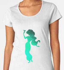 Princess with bird Inspired Silhouette Women's Premium T-Shirt