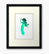 Princess with bird Inspired Silhouette Framed Print