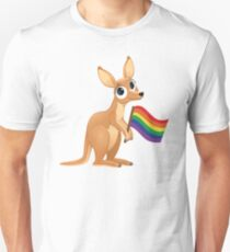 LGBT Gay Pride Kangaroo Australia  T-Shirt