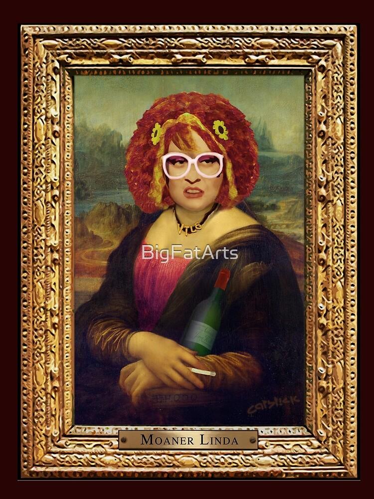 Moaner Linda (Goldrahmen) von BigFatArts