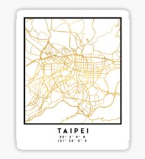 TAIPEI TAIWAN CITY STREET MAP ART Sticker