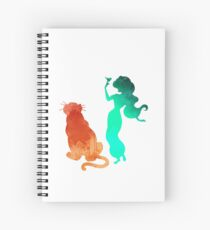 Princess and tiger Inspired Silhouette Spiral Notebook