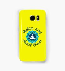 "Azure Mandala and ""Relax and Chant Omm"" sign Samsung Galaxy Case/Skin"