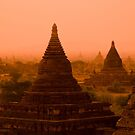 Stupas In The Mist by Kerry Dunstone