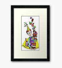 birthday boy bear sweets Framed Print