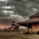 Harvest sun set by Dave  Hartley
