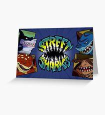 Street Sharks Greeting Card