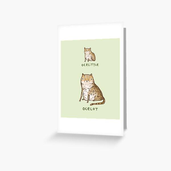 Ocelittle Ocelot Greeting Card