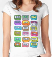 Collecting tapes in the 90s Women's Fitted Scoop T-Shirt