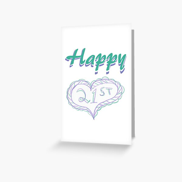 Happy 21st Greeting Card