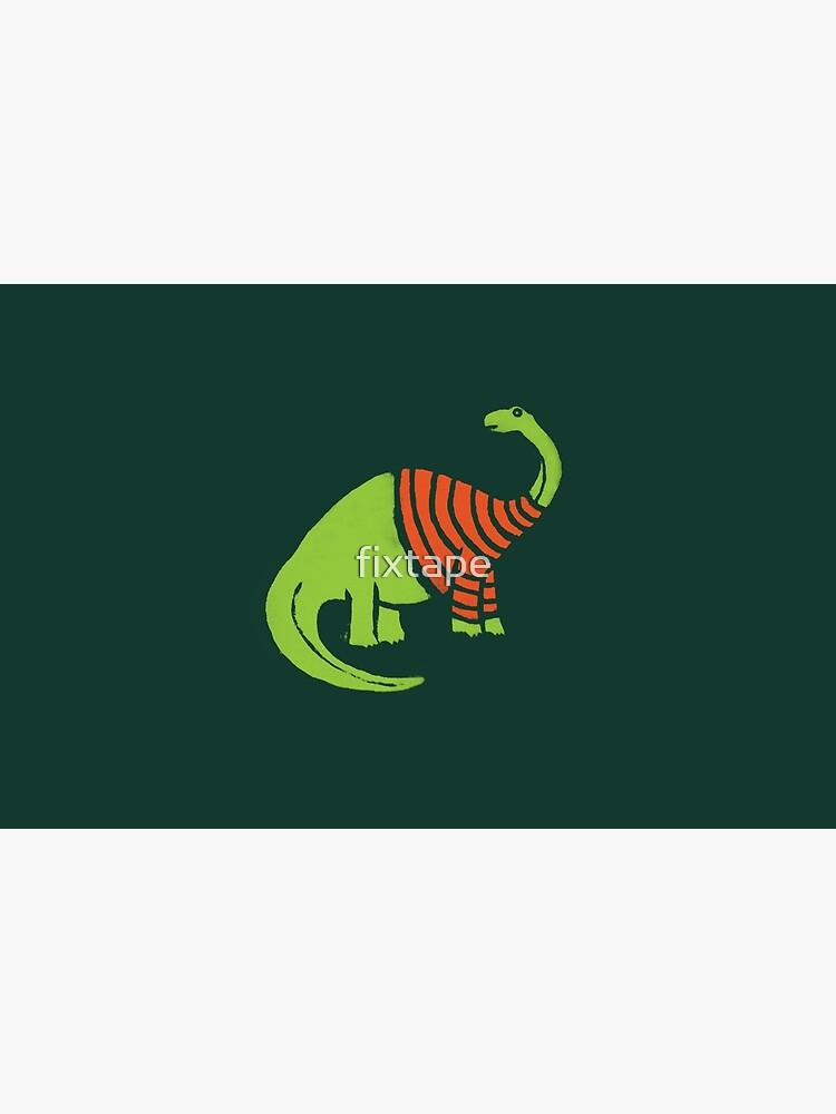 Brontosaurus in einer Strickjacke von fixtape