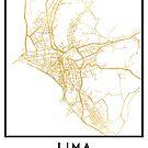 LIMA PERU CITY STREET MAP ART by deificusArt