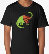 Brontosaurus in a Sweater  Long T-Shirt
