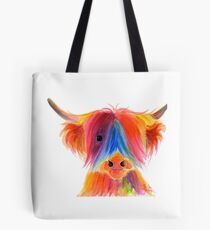 Scottish Highland Cow ' PANCAKE ' by Shirley MacArthur Tote Bag