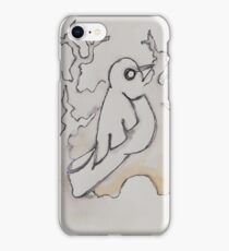 Black and White Birds Chatting iPhone Case/Skin