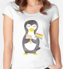 Proud as a Penguin - Aqua Women's Fitted Scoop T-Shirt