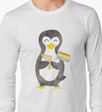 Proud as a Penguin - Aqua Long Sleeve T-Shirt