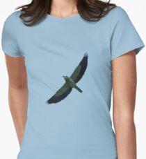 European Roller In Flight Silhouette Vector T-Shirt