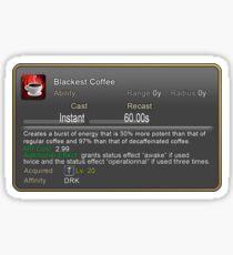 Blackest  Coffee Sticker