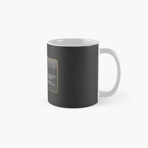 Blackest  Coffee Classic Mug