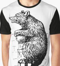 Bookplate - Bear - Circus Bear - Victorian Graphic T-Shirt