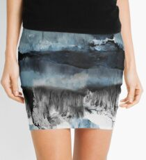 Abstract Marble Mini Skirt