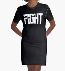Fight Graphic T-Shirt Dress
