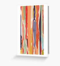 Abstract Vertical brush in MultiColor Greeting Card