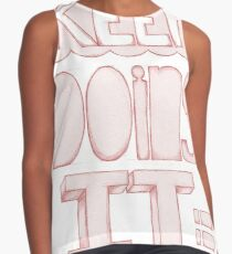 Keep Doing It Pink Contrast Tank