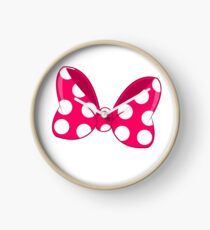 Polka Dots Bow Clock