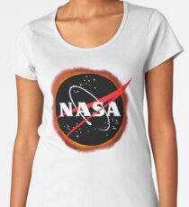 NASA-SOLARECLIPSE Premium Rundhals-Shirt