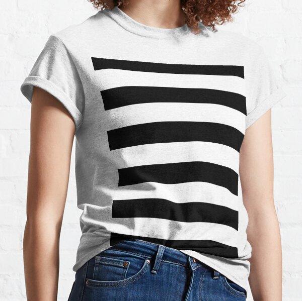 Black and White Big Stripe Classic T-Shirt