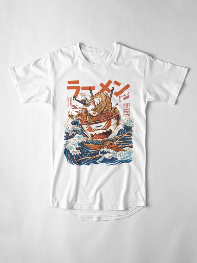 Vista alternativa de Camiseta larga El Gran Ramen frente a Kanagawa
