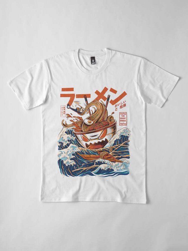 Alternate view of The Great Ramen off Kanagawa Premium T-Shirt