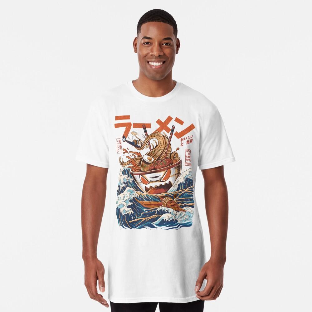 El Gran Ramen frente a Kanagawa Camiseta larga