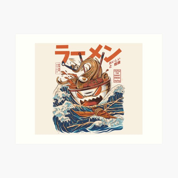 The Great Ramen off Kanagawa Art Print