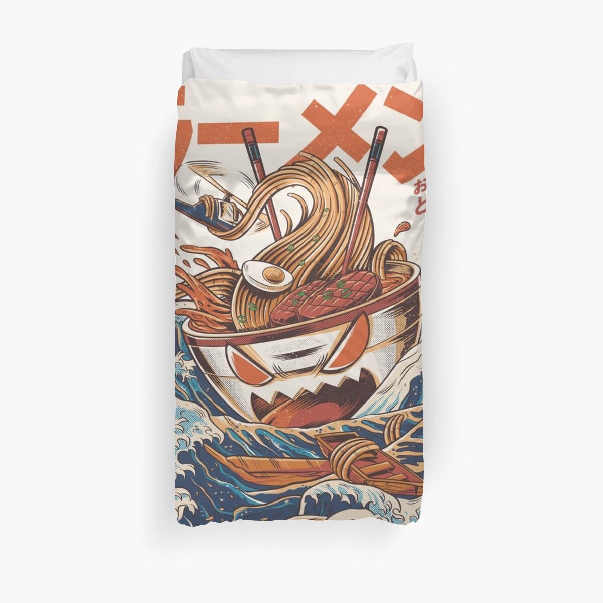 The Great Ramen off Kanagawa by Ilustrata Design