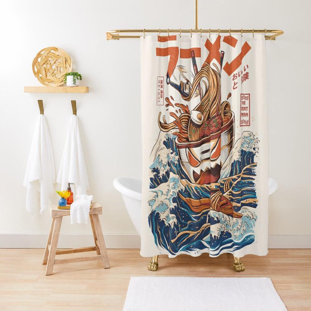 The Great Ramen off Kanagawa Shower Curtain