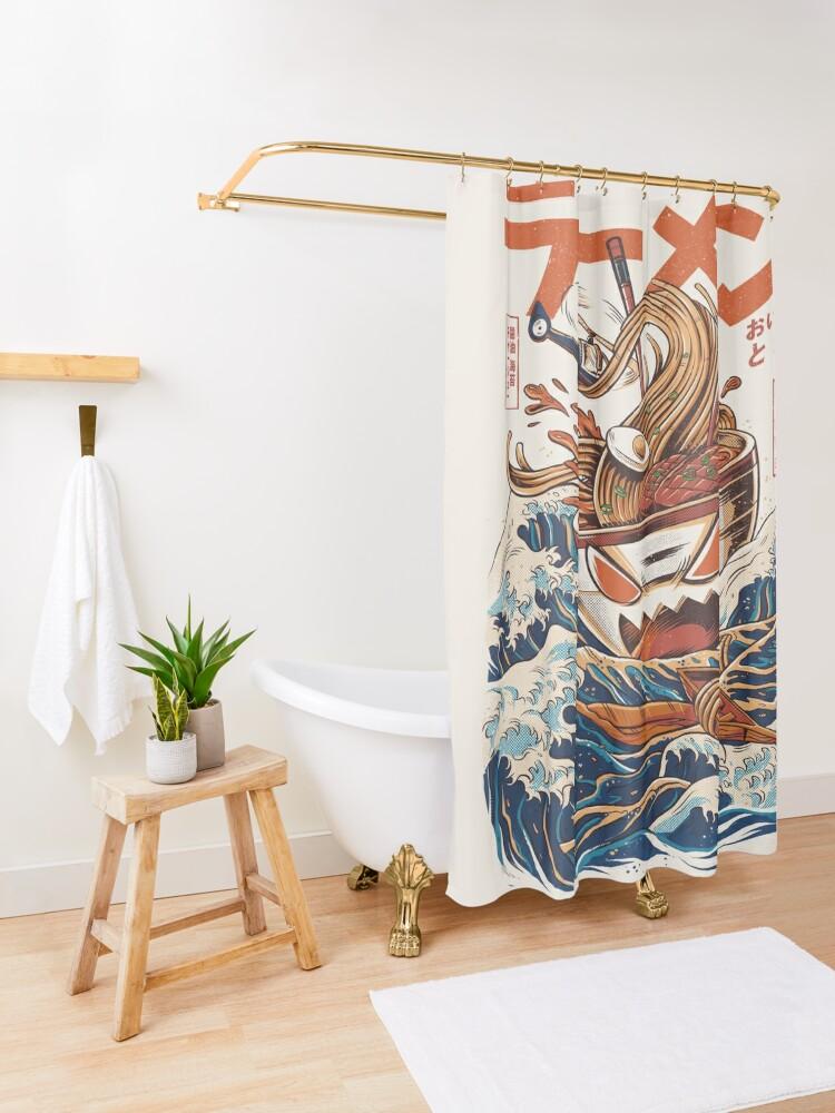 Alternate view of The Great Ramen off Kanagawa Shower Curtain