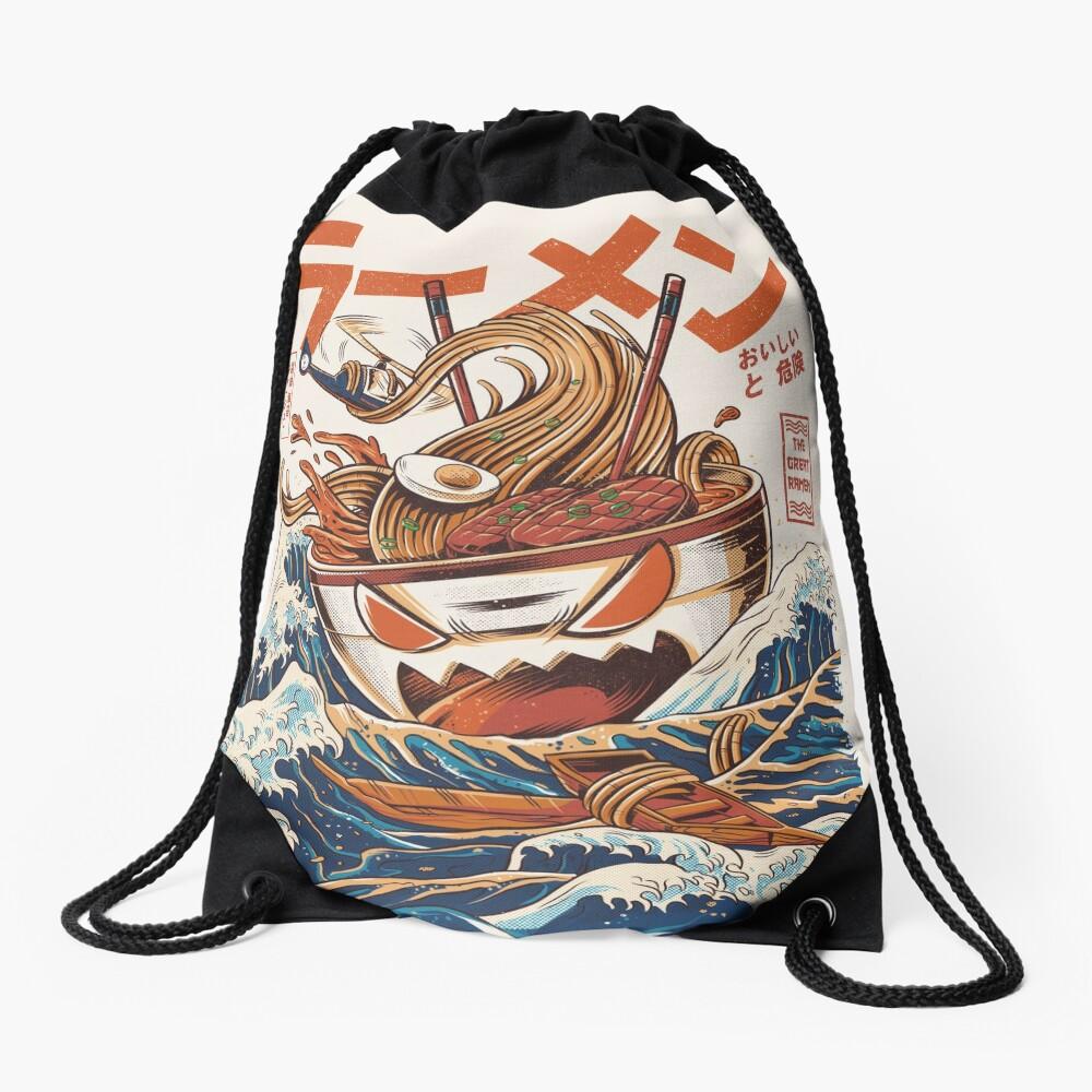 The Great Ramen off Kanagawa Drawstring Bag