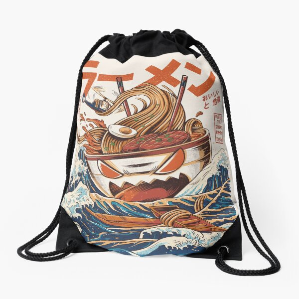 The Great Ramen off Kanagawa Drawstring Bag