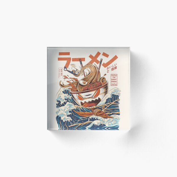 The Great Ramen off Kanagawa Acrylic Block