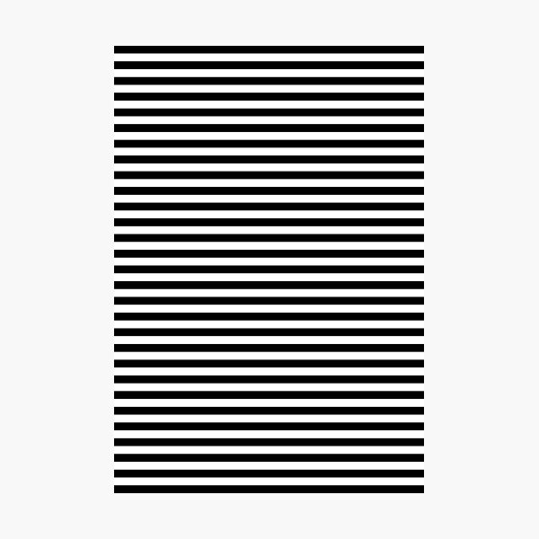 Black and White Simple Stripe Photographic Print